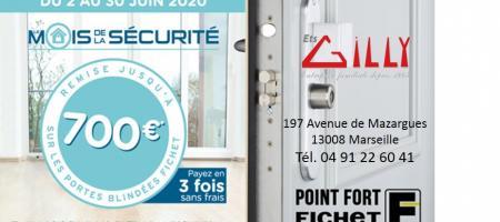 Remise jusqu'à 700€ sur les portes blindées Fichet !