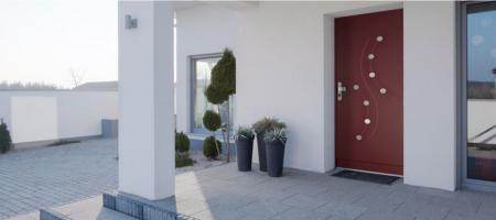 Porte blindée villa anti-effraction Fichet : Stylea