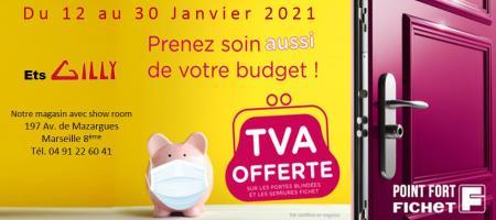 Opération TVA Offerte du 12 au 30 janvier 2021 - Point Fort Fichet ETS Gilly