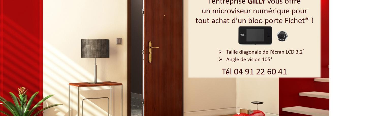 Un microviseur numérique standard offert pour l'achat d'une porte blindée Fichet !