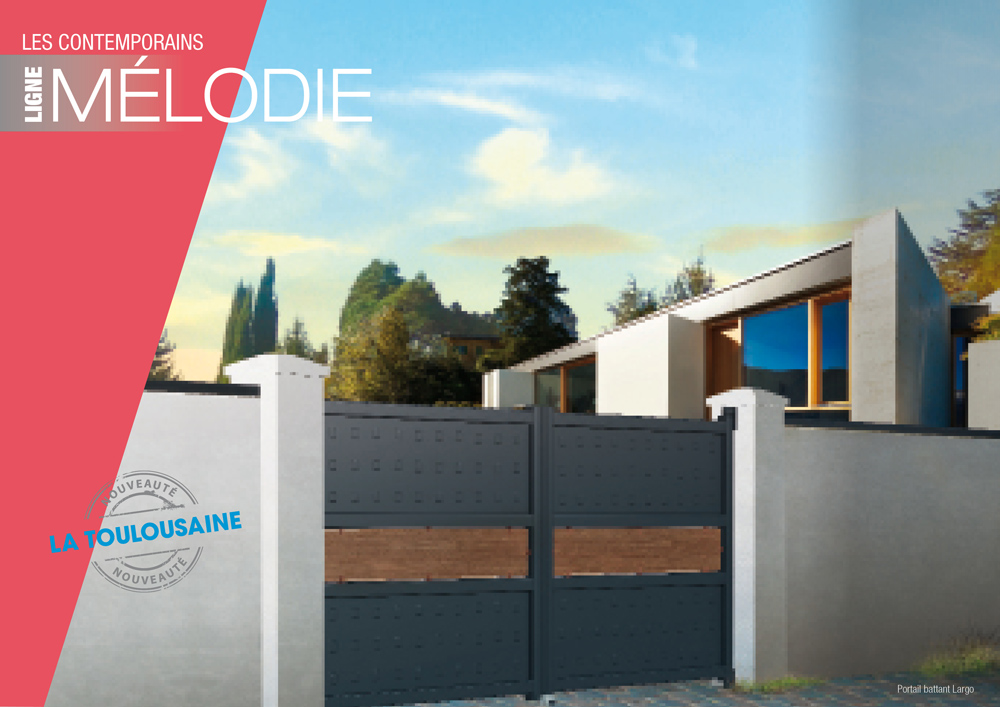 ETS Gilly propose des portails La Toulousaine - Modèle Mélody personnalisable